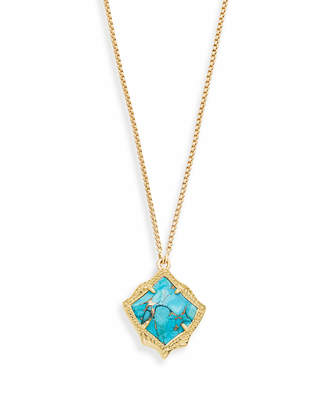 Kendra Scott Kacey Long Pendant Necklace in Gold