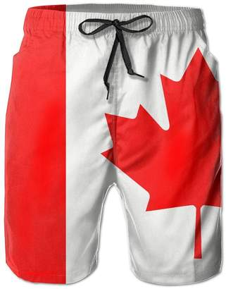 Trunks Zmheuy Canada Flag Men's Casual Beach Board Shorts Quick-drying Swim