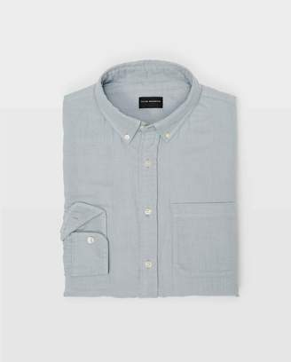 Club Monaco Slim Solid Double-Faced Shirt