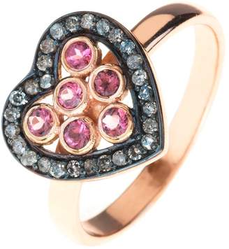 Latelita - Diamond Heart Pink Tourmaline Ring