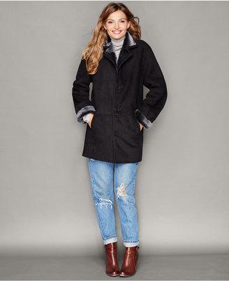 The Fur Vault Shearling Lamb Button-Front Coat $2,495 thestylecure.com