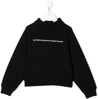 LES COYOTES DE PARIS logo long-sleeve sweatshirt