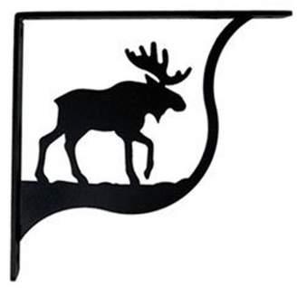Village Wrought Iron SB-19-M Moose Shelf Brackets Md