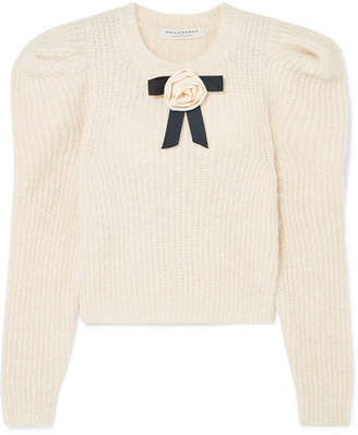Philosophy di Lorenzo Serafini Bow-embellished Knitted Sweater - Cream