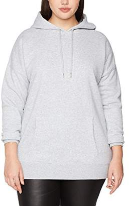 New Look Curves Women's 5389716 Hoodie, (Mid Grey)