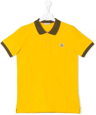 Moncler colour block polo shirt