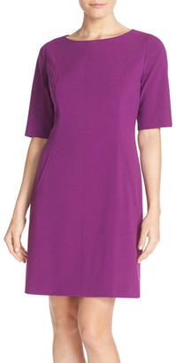 Tahari Seamed A-Line Dress $128 thestylecure.com