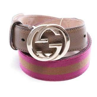 Gucci Interlocking Buckle Multicolour Cloth Belts