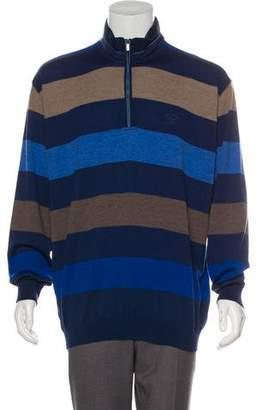 Paul & Shark Striped Virgin Wool Half-Zip Sweater w/ Tags