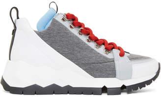 Pierre Hardy Grey Alpine High-Top Sneakers
