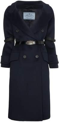 Prada cashgora blend belted coat