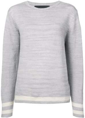 The Elder Statesman cashmere stripe detail sweater