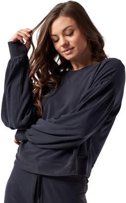 Blanc Noir Amour Cropped Pullover Sweatshirt