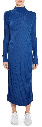 Women's Topshop Boutique Directional Ribbed Midi Dress
