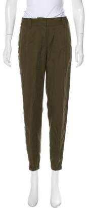 Rebecca Taylor Mid-Rise Embroidered Pants