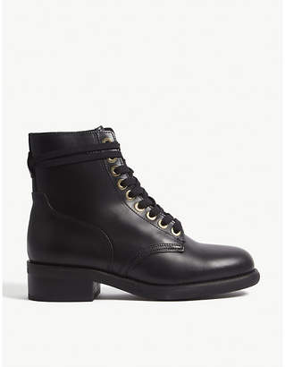 Sandro Leather biker boots