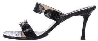 Gianni Versace Snakeskin Slide Sandals
