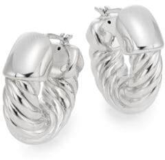 Saks Fifth Avenue Sterling Silver Twist Hoop Earrings