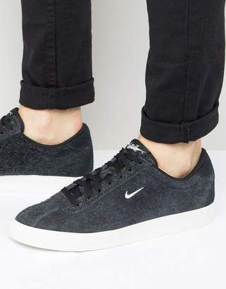 Nike Match Classic Suede Sneakers In Black 844611-004