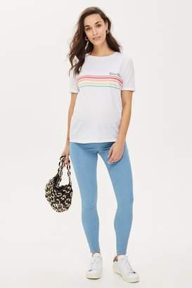 Topshop Womens **Maternity Under The Bump Joni Jeans - Bleach Denim