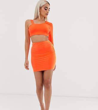 Fashionkilla Petite mini tube skirt in fluro orange