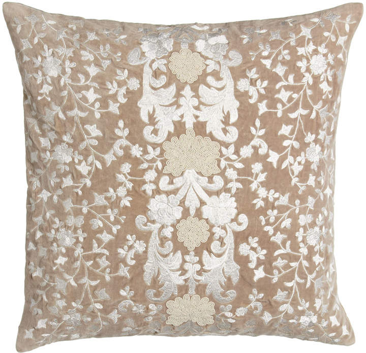 "Callisto Callisto Home Avalon Square Pillow with Natural Ground, 22""Sq."
