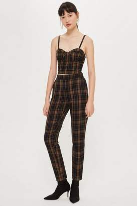 Honey Punch **Brown Plaid Trousers