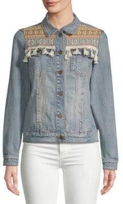 Driftwood Embroidered Denim Jacket