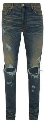 Amiri Thrasher Slim Leg Distressed Jeans - Mens - Indigo