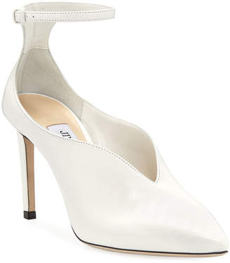 Jimmy Choo Sonia Leather Ankle-Strap Pumps