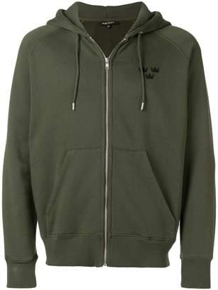 Ron Dorff zipped logo hoodie