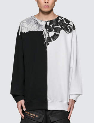Marcelo Burlon County of Milan Snake Wing Crewneck