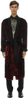 Triple Rrr FREQUENCY PRINTED VELVET ROBE
