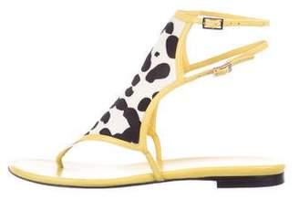 Tamara Mellon Ponyhair Ankle Strap Sandals