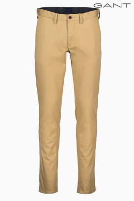 Next Mens GANT Slim Twill Stone Chino
