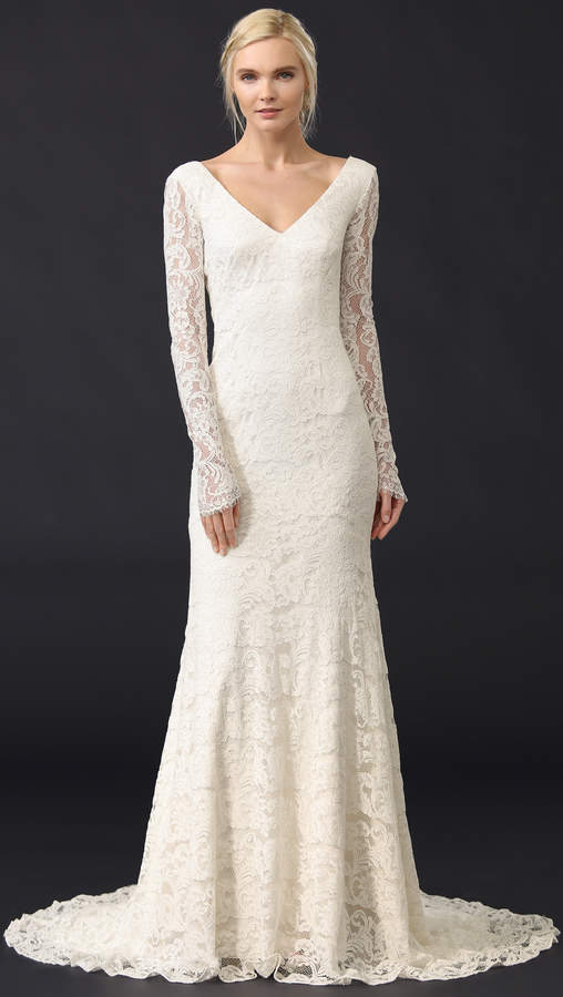 Theia Nicole Lace Gown 4