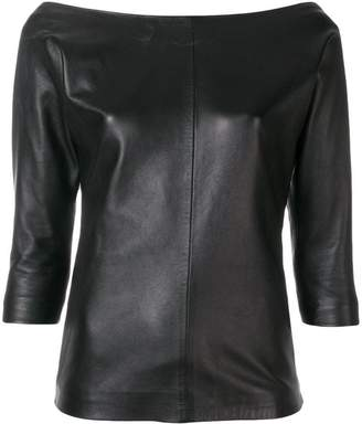 DSQUARED2 off-shoulder leather top