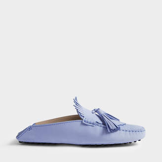 Chaussures Mule Tassle De Gommino En Suède Argent Tod NLxJolTc2