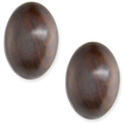 Viktoria Hayman Oval Wood Stud Earrings