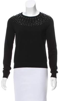 Milly Embellished Knit Sweater