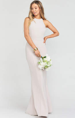 Show Me Your Mumu Chicago High Neck Gown ~ Show Me The Ring Stretch Crepe