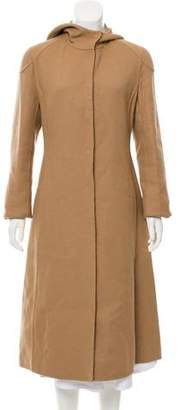 Prada Hooded Long Coat