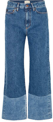 Simon Miller Cropped High-rise Wide-leg Jeans - Mid denim
