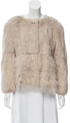 RED Valentino Mongolian Lamb & Fur Jacket