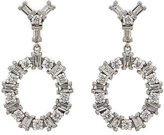 Ileana Makri Women's White Diamond Double-Drop Earrings - Gold