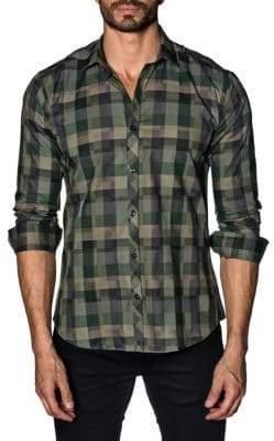 Jared Lang Checkered Cotton Button-Down Shirt