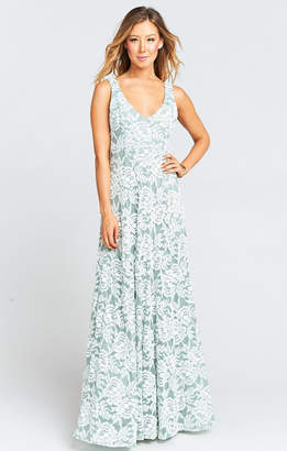 Show Me Your Mumu Jenn Maxi Dress ~ Lovers Lace Silver Sage