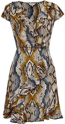 7ec30d125cc Dorothy Perkins Womens   Billie   Blossom Black Snake Print Wrap Dress