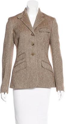 Ralph Lauren Wool & Silk-Blend Herringbone Blazer $145 thestylecure.com