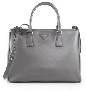 Prada Saffiano Medium Double Zip Top-Handle Bag